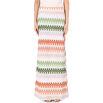 MISSONI Knitted maxi skirt (Green