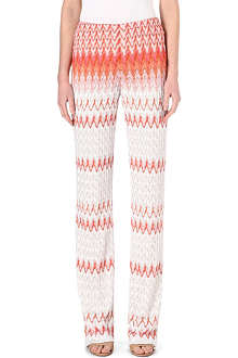 MISSONI Straight knitted trousers