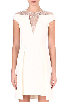 TEMPERLEY LONDON Jewel stud cut-out dress