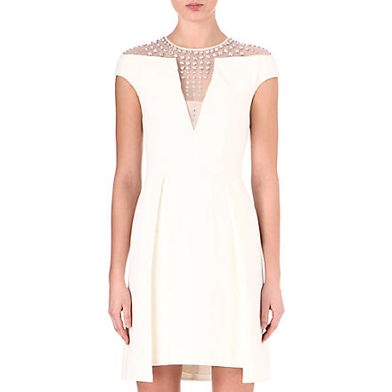 TEMPERLEY LONDON Jewel stud cut-out dress (Ivory
