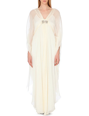 TEMPERLEY LONDON Ariana embellished silk kaftan