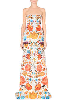 TEMPERLEY LONDON Quilted floral-print gown