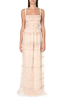 TEMPERLEY LONDON Tiered silk dress