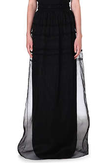 TEMPERLEY LONDON Cambon embellished silk maxi skirt
