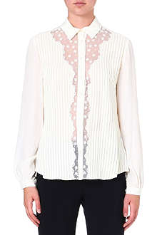 TEMPERLEY LONDON Deneuve sheer-detail shirt
