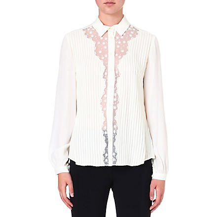 TEMPERLEY LONDON Deneuve sheer-detail shirt (Ivory