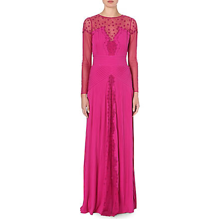 TEMPERLEY LONDON Embroidered gown (Damson