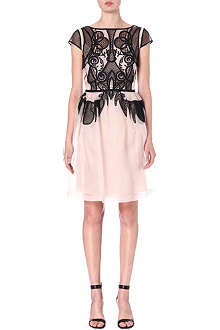 TEMPERLEY LONDON Lace-effect silk dress