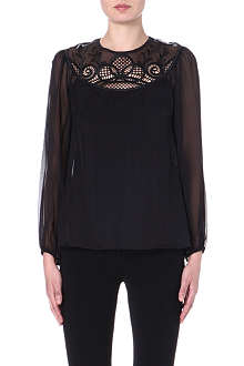 TEMPERLEY LONDON Maxime silk top
