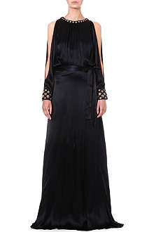 TEMPERLEY LONDON Amounia silk-satin gown