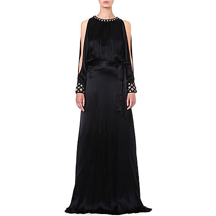 TEMPERLEY LONDON Amounia silk-satin gown (Black