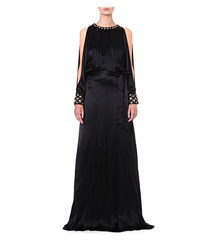 TEMPERLEY LONDON Amounia silk-satin gown (Black