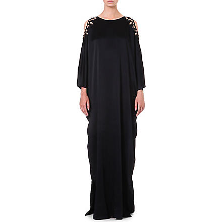 TEMPERLEY LONDON Amounia satin kaftan gown (Black