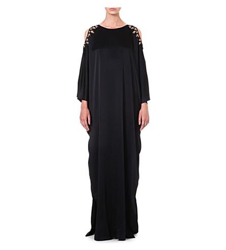 TEMPERLEY LONDON Amounia satin kaftan gown (Black