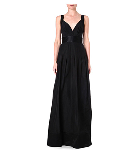TEMPERLEY LONDON Sleeveless full-length gown (Black