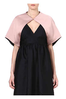 TEMPERLEY LONDON Short-sleeved crepe shrug