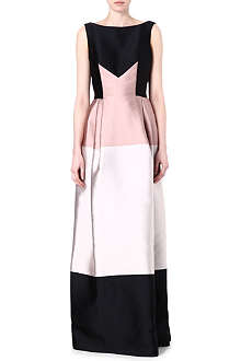 TEMPERLEY LONDON Sleeveless contrast maxi dress