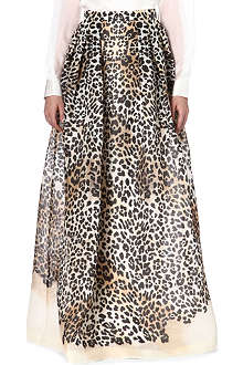 TEMPERLEY LONDON Leopard print silk maxi skirt