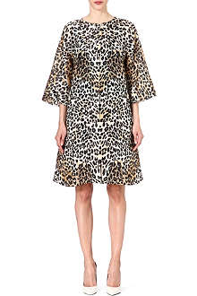 TEMPERLEY LONDON Leopard print silk coat