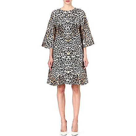 TEMPERLEY LONDON Leopard print silk coat (Leopard