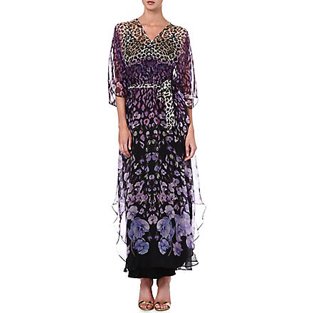 TEMPERLEY LONDON Printed silk kaftan (Lilac/blush