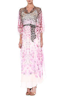 TEMPERLEY LONDON Printed silk kaftan
