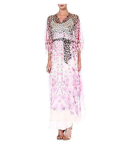 TEMPERLEY LONDON Printed silk kaftan (Pink/blush