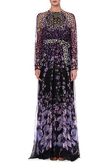TEMPERLEY LONDON Caped-back silk maxi dress