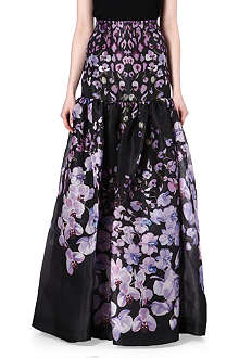 TEMPERLEY LONDON Floral-print silk maxi skirt
