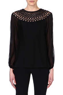 TEMPERLEY LONDON Ribbon-detail silk top