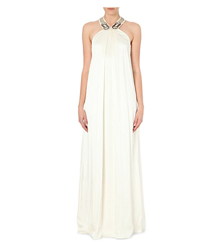 TEMPERLEY LONDON Adriana embellished satin gown (Ivory