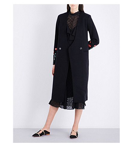 TEMPERLEY LONDON Creek double-breasted cotton coat (Black