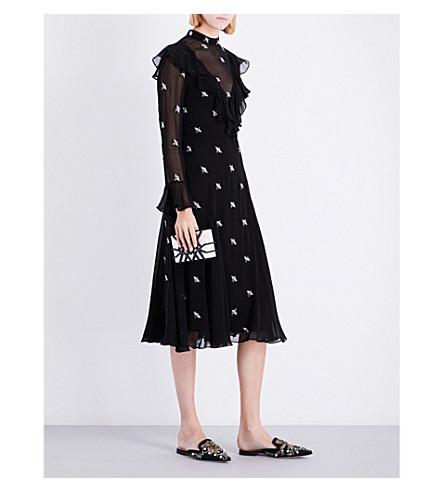TEMPERLEY LONDON Starling silk-blend dress (Black