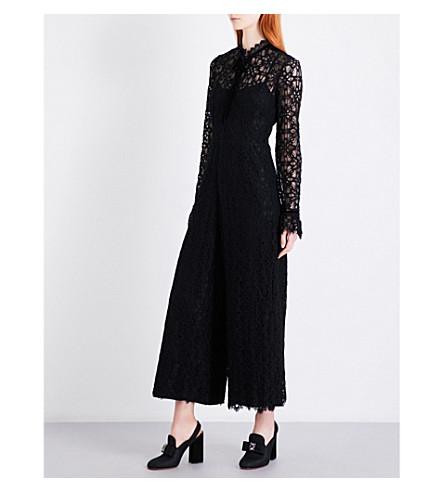 TEMPERLEY LONDON Eclipse wide-leg lace jumpsuit (Black