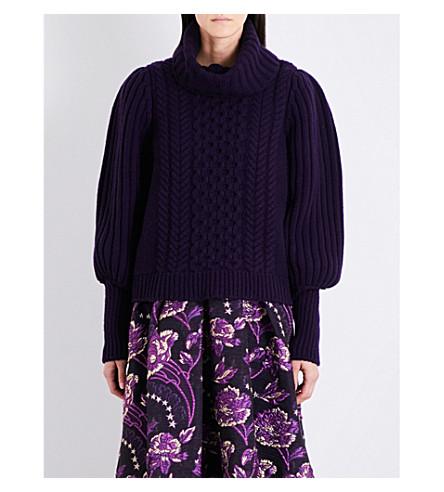 TEMPERLEY LONDON Shade turtleneck wool jumper (Aubergine