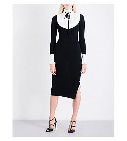 TEMPERLEY LONDON Sigmund collar wool-blend dress (Black