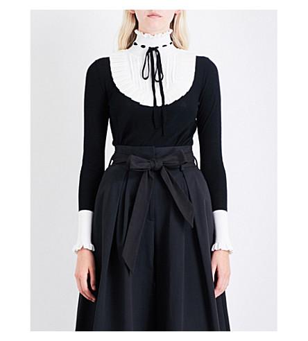 TEMPERLEY LONDON Sigmund collar wool-blend jumper (Black