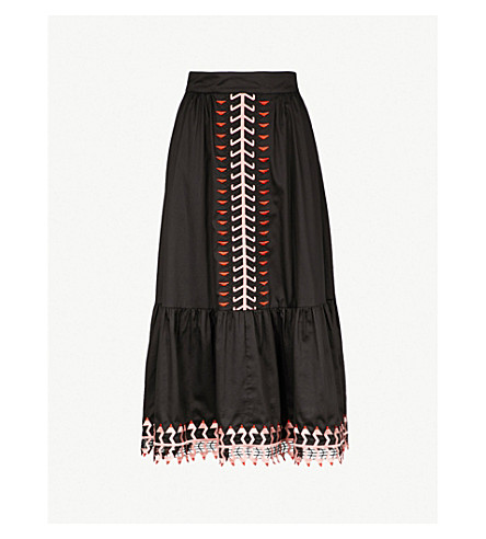 TEMPERLEY LONDON 艾格尼丝棉裙 (黑色