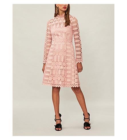 TEMPERLEY LONDON Amelia geometric lace dress (Anemone