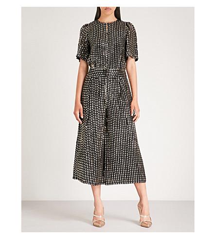 TEMPERLEY LONDON Mosaico sequinned jumpsuit (Black