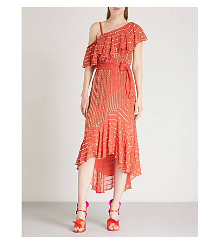 TEMPERLEY LONDON Mosaico metallic-embellished crepe midi dress Vermillion Cheapest Official Site Cheap Online Quality Outlet Store Free Shipping Big Sale Best For Sale nNpDRF7Zp