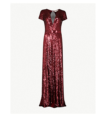 TEMPERLEY LONDON 雷 sequinned 袍 (朱砂