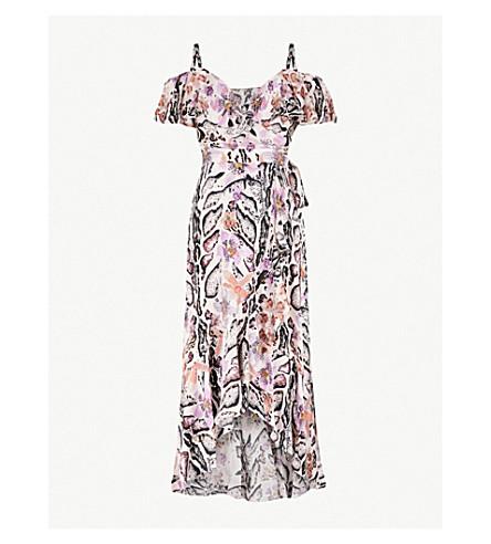 TEMPERLEY LONDON Safari cold-shoulder satin midi dress (Almond