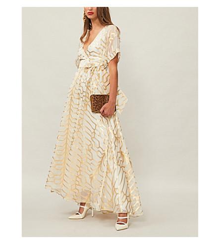LONDON Tapis Ivory TEMPERLEY pattern gown organza TEMPERLEY metallic LONDON zwaqBE7n