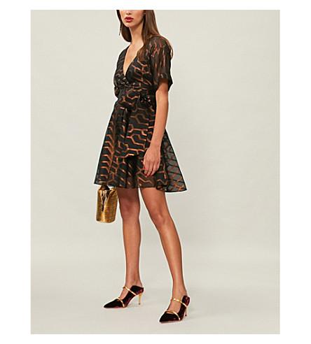 TEMPERLEY LONDON Tapis metallic-pattern organza dress (Black