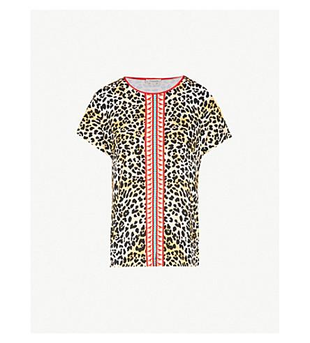 TEMPERLEY LONDON 豹纹平纹针织面料 T 恤 (豹子混合