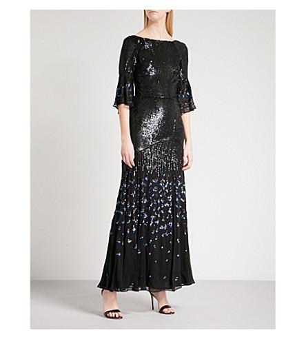 TEMPERLEY LONDON Celestial sequinned maxi dress (Black