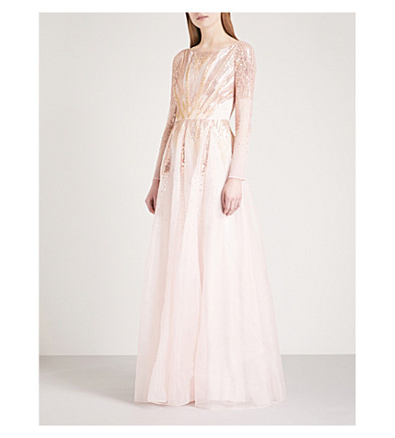 TEMPERLEY LONDON Mineral silk-chiffon gown (Shell