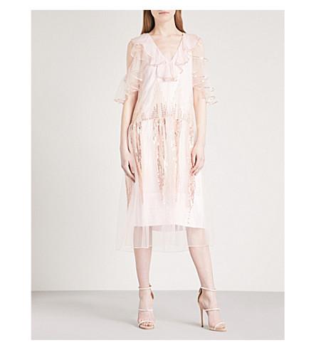 TEMPERLEY LONDON Mineral V-neck mesh dress (Shell