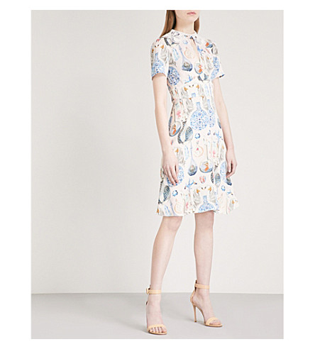 TEMPERLEY LONDON Love Potion crepe dress (Shell+mix